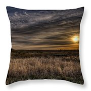 Midwest Sunrise Throw Pillow