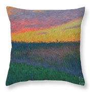 Midwest Sunset Throw Pillow