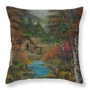 Midwestern Landscape Throw Pillow