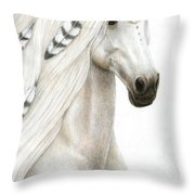 Midwinter Moon Throw Pillow