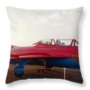 Mig Trainer Jet Throw Pillow