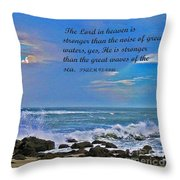 Mighty God Throw Pillow