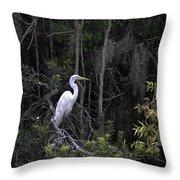 Mighty Heron Throw Pillow