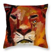 Mighty Lion Throw Pillow