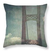 Michigans Mackinac Bridge Throw Pillow