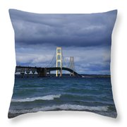 Mighty Mack Bridge Throw Pillow
