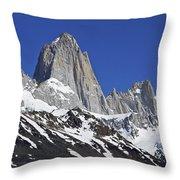 Mighty Mount Fitz Roy Throw Pillow