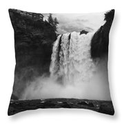 Mighty Snoqualmie Throw Pillow