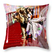 Mighty Woman Of God Throw Pillow