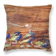 Migrated Birds Throw Pillow