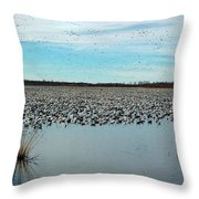Migrating Geese Throw Pillow