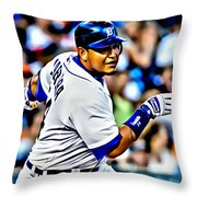Miguel Cabrera Painting Throw Pillow