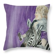Mika And Zebra Throw Pillow