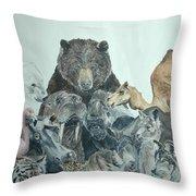 Mika Animals Throw Pillow