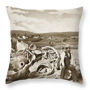 Mike Noon Monterey Whaler On Montereys Wharf  Circa 1890 Throw Pillow
