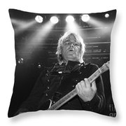 Mike Peters The Alarm By Diana Sainz Throw Pillow