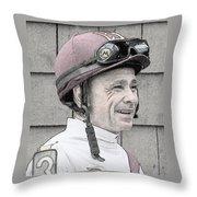 Mike Smith Portrait Throw Pillow