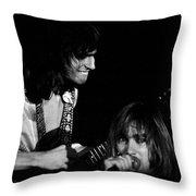 Mike Somerville And John Schlitt Of Head East Throw Pillow