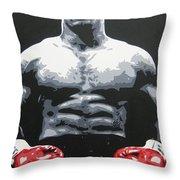 Mike Tyson 10 Throw Pillow