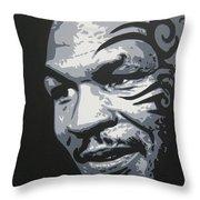 Mike Tyson 11 Throw Pillow