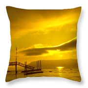 Mike's Beach Resort In The Morning  Throw Pillow