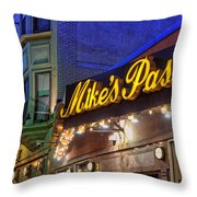 Mike's Pastry Shop - Boston Throw Pillow by Joann Vitali