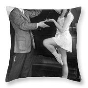 Mikhail Mordkin And Student Throw Pillow by Underwood Archives