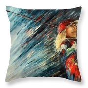 Miki Self Portrait With Driver Throw Pillow