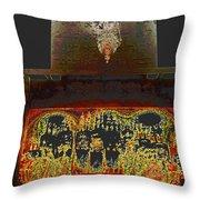 Eternal Light-golden Throw Pillow