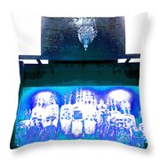 Eternal Light-in White And Blue Throw Pillow