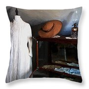 Milady's Finery Throw Pillow