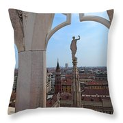 Milan Cathedral Rooftop View Throw Pillow
