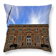 Milan Post Office Throw Pillow