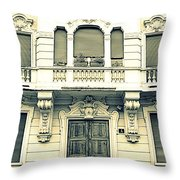 Milan Vintage Building Throw Pillow