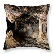 Milatos Cave Throw Pillow by Luis Alvarenga