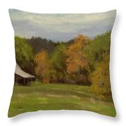Mildred Kanipe Equestrian Park Throw Pillow