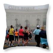 Mile 10 At Cliffhouse Throw Pillow by Dean Ferreira