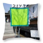 Mile Marker 579.5 Throw Pillow