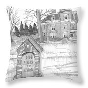 Mile Marker And Victorian Throw Pillow