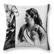 Milena Vukotic (1847-1923) Throw Pillow