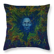 Miles. Aura. Into Creation Throw Pillow