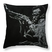 Miles Throw Pillow by Chris Mackie