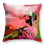Miles Davis In The Clouds Throw Pillow