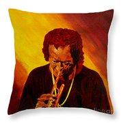 Miles Davis Jazz Man Throw Pillow