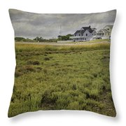 Milford Point Beach Throw Pillow