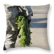 Military Christmas  Throw Pillow
