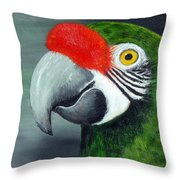 Military Macaw Throw Pillow