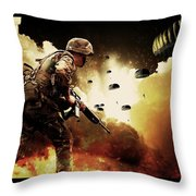 Military Our Heroes Throw Pillow