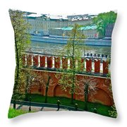 Military Parade Practice Inside Kremlin Walls In Moscow-russia Throw Pillow