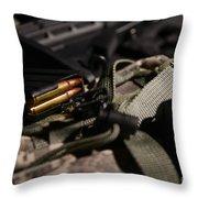 Military Pile Throw Pillow